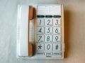 Téléphone blanc grandes touches chiffres blancs/noir FX-3100 - cliquez pour agrandir