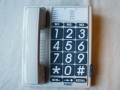 Téléphone gris grandes touches chiffres noir/blanc FX-3100 - cliquez pour agrandir