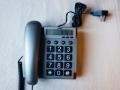Téléphone gris grandes touches caract blc/noir TX-550 - cliquez pour agrandir