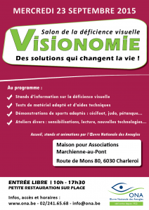 Afiche du salon Visionomie